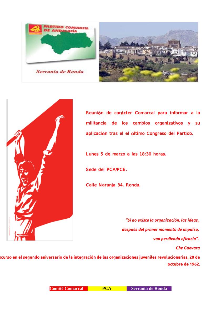 Reunión Comarcal Serranía de Ronda050318